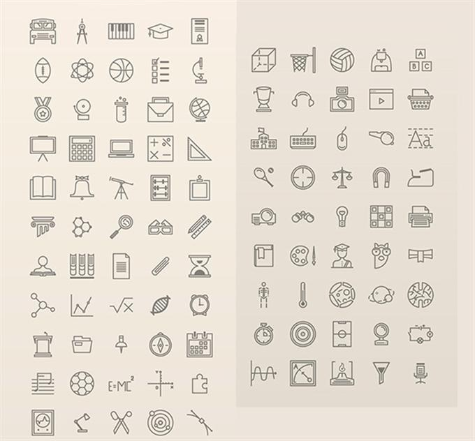 100 Free Vector Education Icons (Custom)