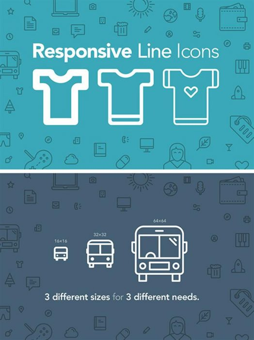 100 Responsive Web Design Icons (Custom)