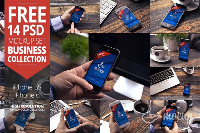 14 iPhone Free Mockups (Custom)
