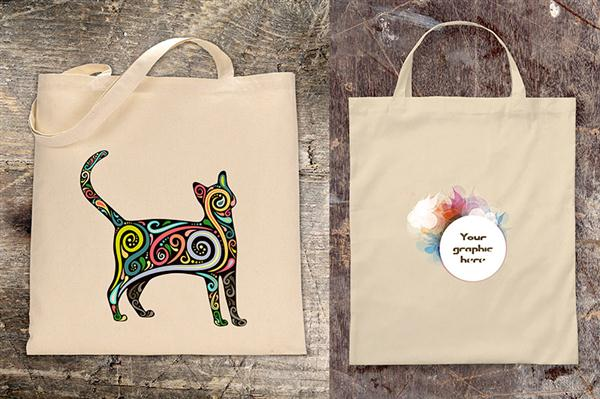 2 Free Canvas Bag Mock-ups (Custom)