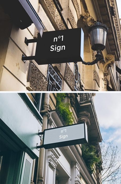 2 Hip Signs Mock-ups (Custom)