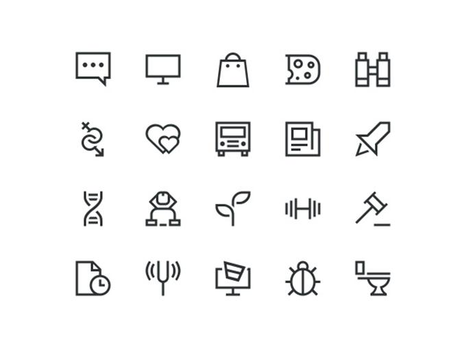 20 Outline Icons (Custom)