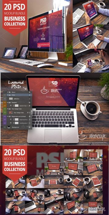 20 PSD Mockup Bundle Business (Custom)