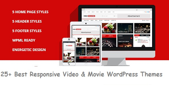 25+ Best Responsive Video & Movie WordPress Themes