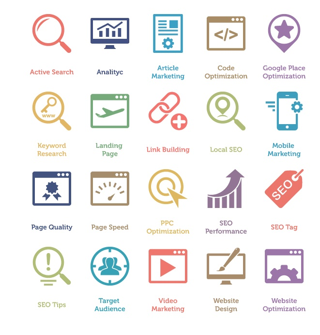 60 SEO Services Icons 2