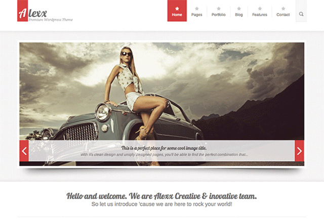 Alexx Portfolio WordPress Theme