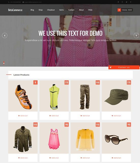 20 free and premium e-commerce/shop html website templates and.