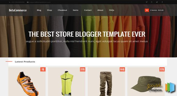 BetaCommerce store Online Shopping Store Blogger Template