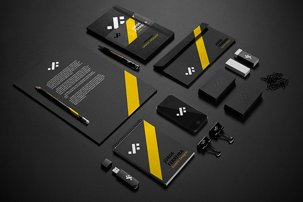 Black Stationery