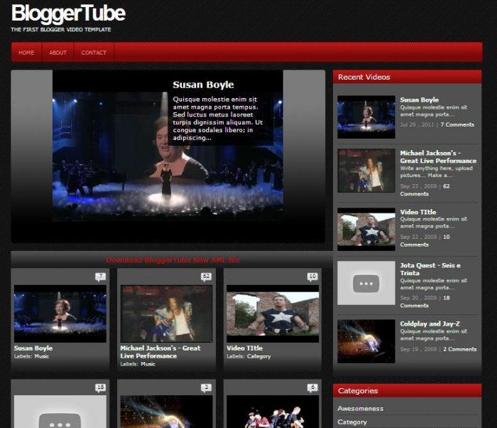 Video tube template