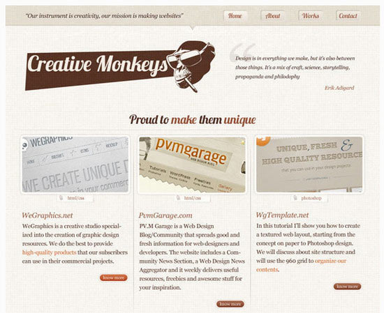 Create a Lovely Textured web Design from Photoshop to HTML CSS