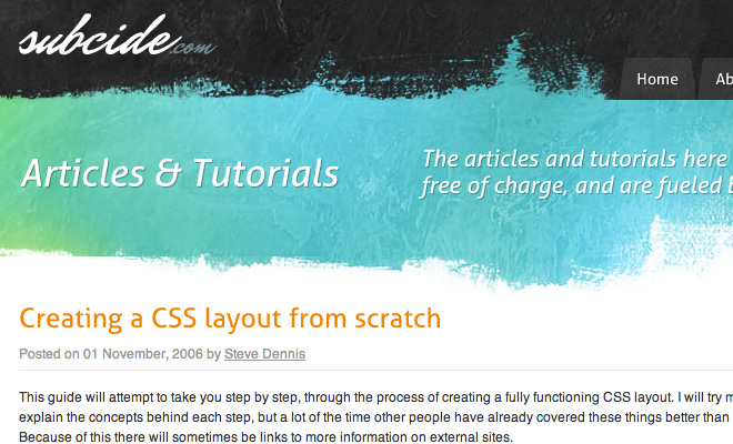 Creating a CSS Layout from Scratch