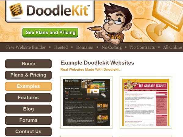 DoodleKit Online Free website builder