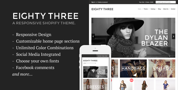 Eighty Three – Responsive Shopify Theme