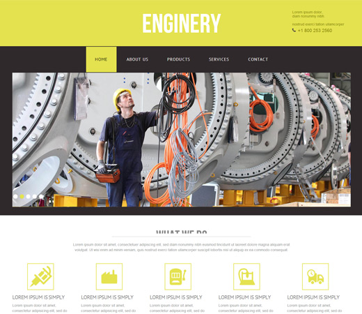 Enginery Industry website template