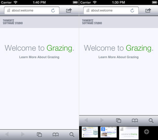 Grazing Web Browser