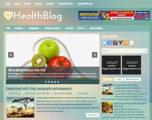 health template for blogger free download  99  Best Free Responsive Blogger Templates Of This Year - TechClient
