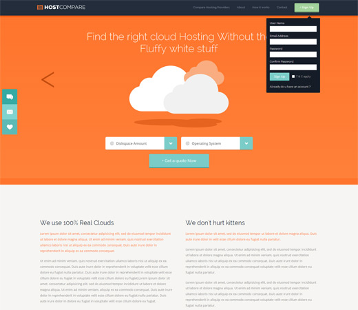 HostCompare Cloud web Hosting Flat Responsive Template