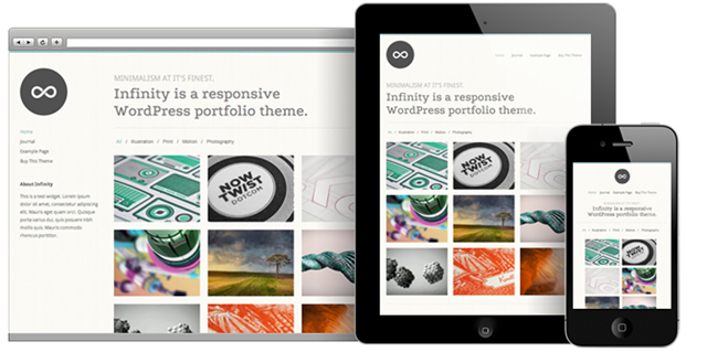 Infinity WordPress Portfolio Theme