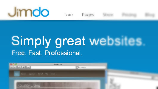 Jimdo Online Free website builder