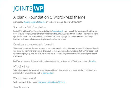 JointsWP Free Blank WordPress Themes
