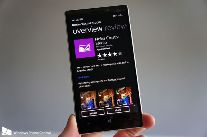 Lumia Creative Studio Windows Phone App