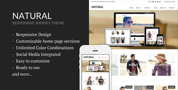 Natural - Responsive Shopify Theme