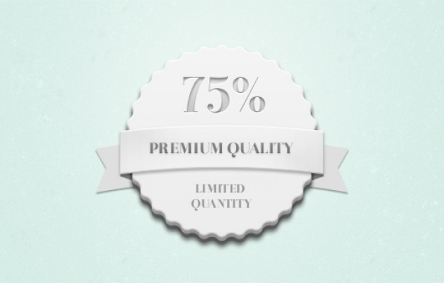 QualityQuantity Badge Psd  Blugraphic