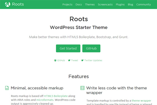 Roots  Free Blank WordPress Themes