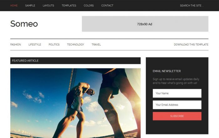 Someo-Responsive-Blogger-Template