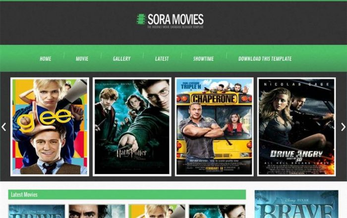 Sora Movies Responsive Entertainment Blogger Template (Small)
