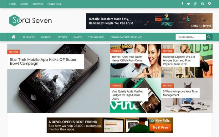 99 best free responsive blogger templates of this year techclient sora seven responsive magazine blogger template fbccfo Gallery
