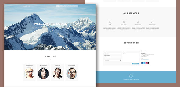 SquadFree – Bootstrap Free HTML Template