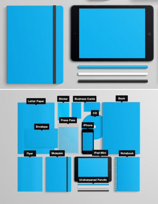 Stationary Branding Mock Up (Volume I)