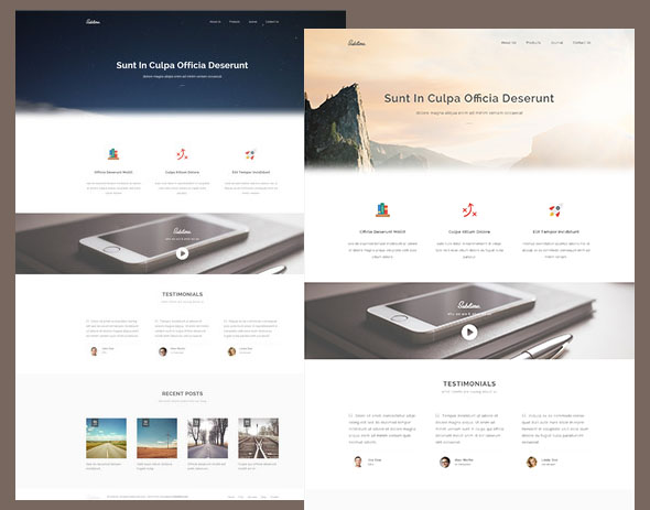 Sublime – Stunning HTML5 CSS3 Website Template