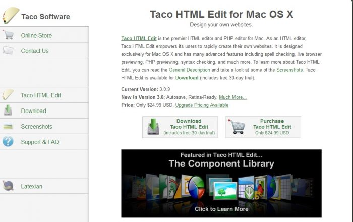 Taco HTML Edit for Mac OS X
