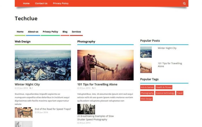 Techclue-Multi-layout-Style-Responsive-Blogger-Template