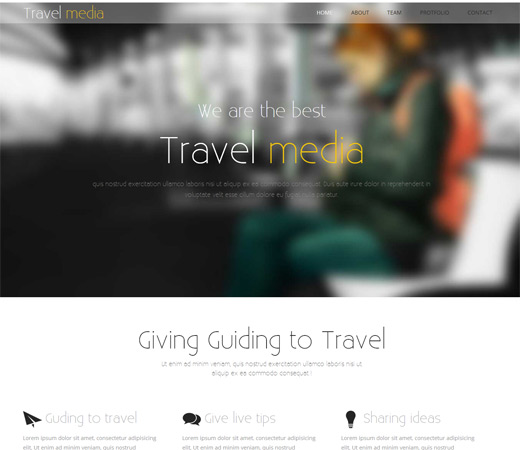 TravelMedia Travel Agency Responsive Web Template