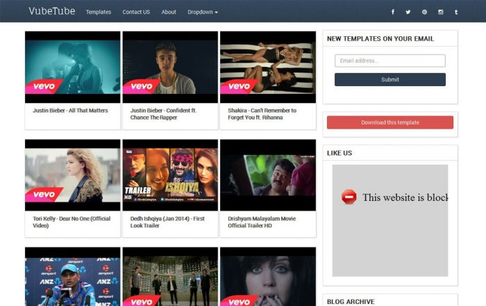 VubeTube Responsive Video Blogger Template