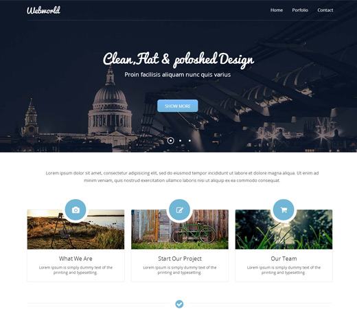 30 best free responsive website templates techclient for Free responsive website templates