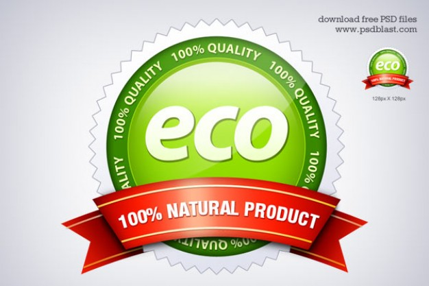 eco friendly seal icon psd