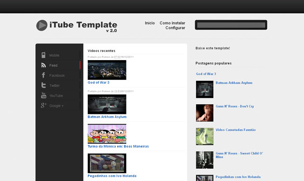 iTube Blogger Template