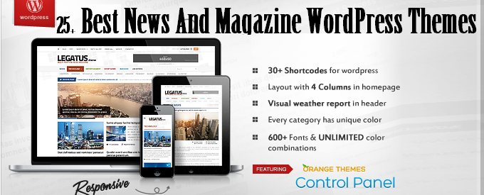 25 Best News And Magazine WordPress Themes