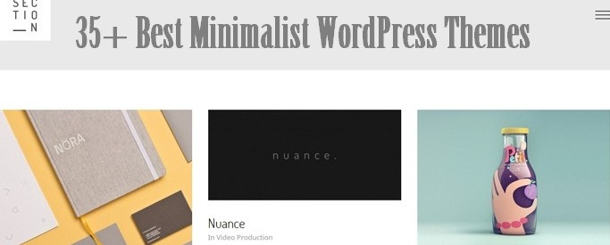 35 Best Minimalist WordPress Themes
