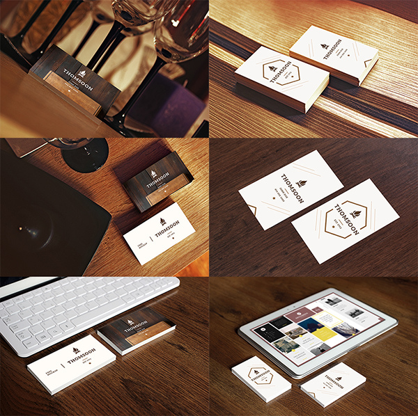 9 Business Card TABLET FREE MOCKUP VOL 2