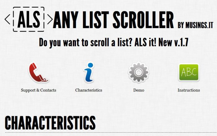 Any-List-Scroller