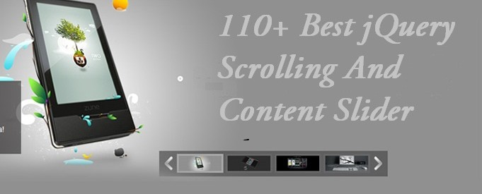 Best jQuery Scrolling And Content Slider Plugins