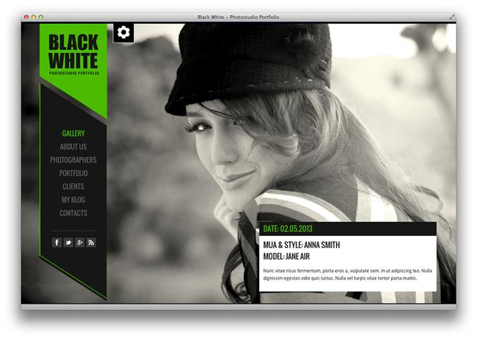 Black&White – Responsive Photo Portfolio (Small)