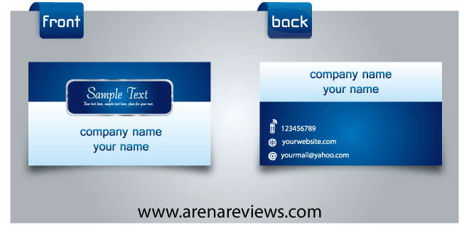 Blue Modern Business Card Template