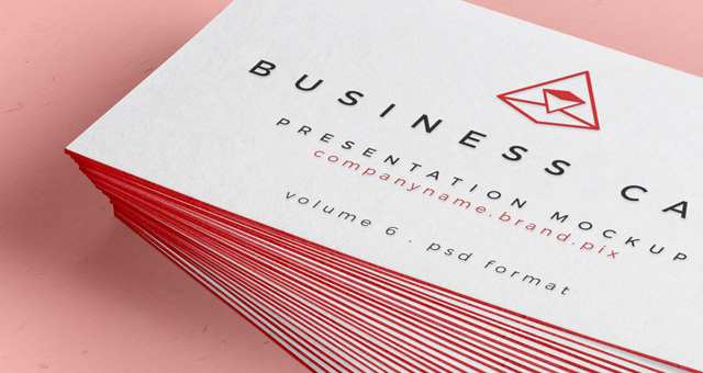 Business Card Mock-Up Vol26